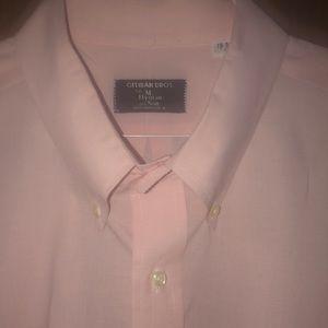 Gitman Bros. Men's Baby Pink Button Down Shirt